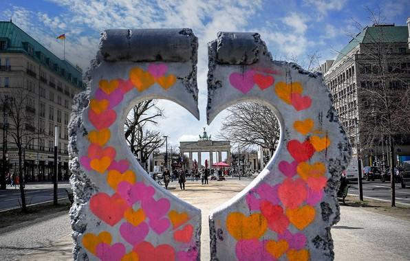 Picture heart, Germany, Berlin, installation, Brandenburg gate