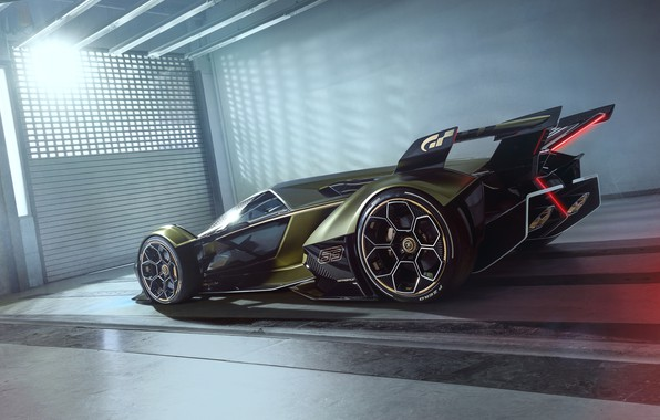 Picture Lamborghini, Wheel, The concept car, Lambo, Drives, V12, Vision Gran Turismo, 2019, Lambo V12 Vision