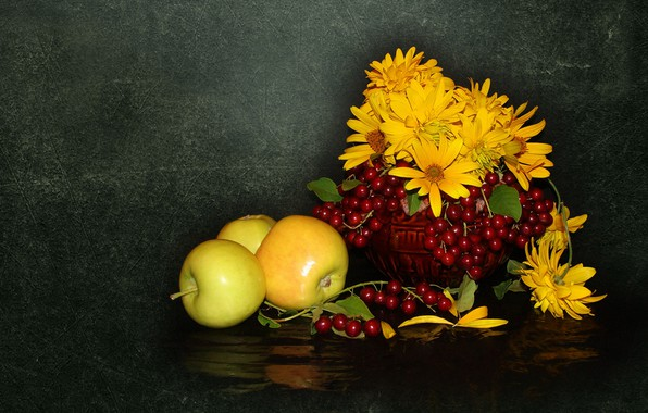 Picture nature, mood, apples, beauty, beautiful, beautiful, beauty, harmony, the Wallpapers, cool, bouquet, nice, elegantly, wedding, ...