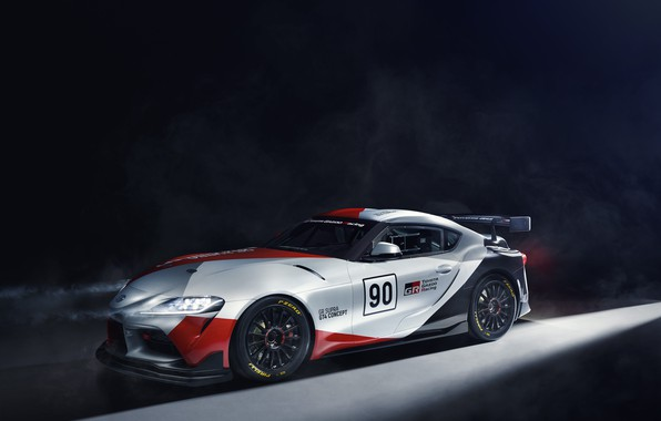 Picture light, machine, lights, coupe, concept, sports car, Toyota, GT4, GR Above