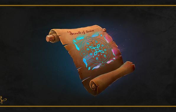 Picture magic, fantasy, art, manuscript, Serg Tsvelykh, Magic scroll