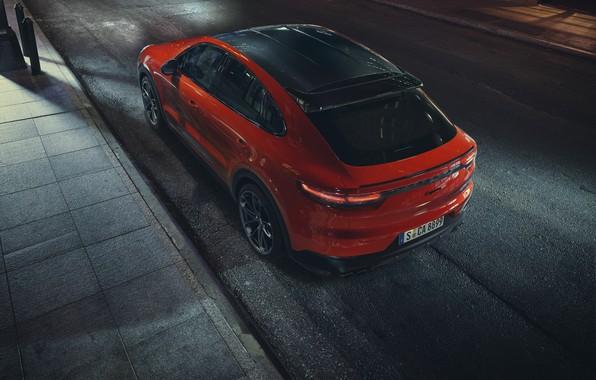 Picture Porsche, Orange, Coupe, Cut, Cayenne Turbo, Shade, Orangeguy
