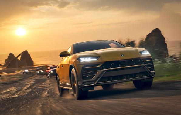 Picture Lamborghini, Microsoft, game, Urus, Forza Horizon 4
