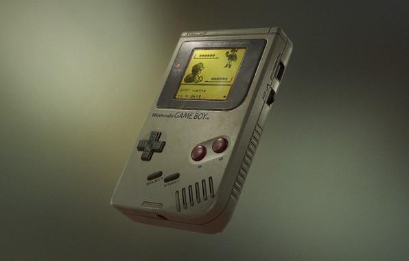 Picture nintendo, render, fly, pokemon, gray background, gameboy
