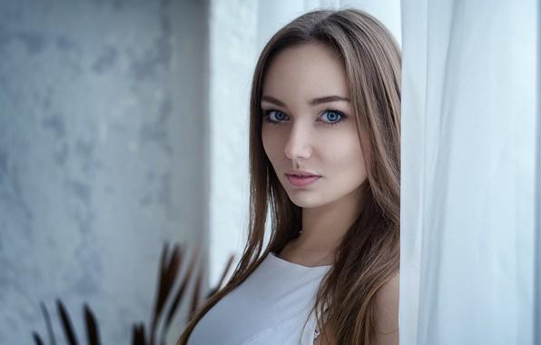 Picture girl, Model, long hair, brown hair, photo, blue eyes, bokeh, lips, face, brunette, portrait, mouth, …