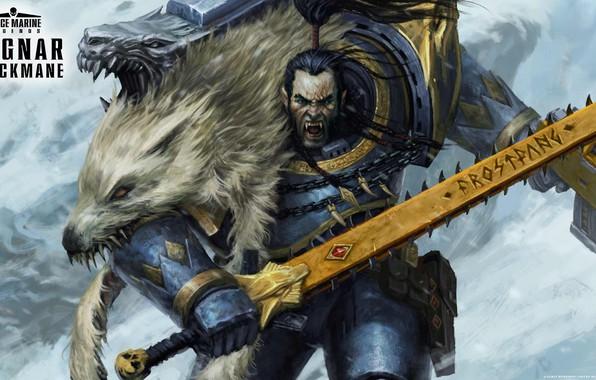 Picture space marine, space wolves, Warhammer 40 000, Ragnar Blackmane