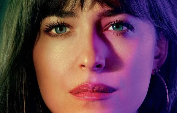 Picture eyes, look, girl, light, face, Dakota Johnson