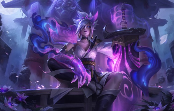 Picture lol, Game, League of Legends, Riven, League Of Legends, Riot Games, Skins, Riven, Spirit blossom, …