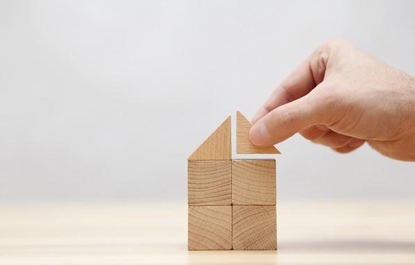 Picture house, fingers, project, idea, construction