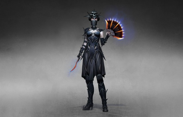 Picture Girl, Minimalism, Style, Girl, Warrior, Fighter, Style, Warrior, Fiction, Mortal Kombat, Fiction, Kitana, Kitana, Illustration, …