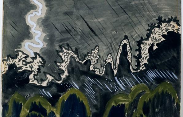 Picture July 15, 1916, Charles Ephraim Burchfield, Impression of Lightning