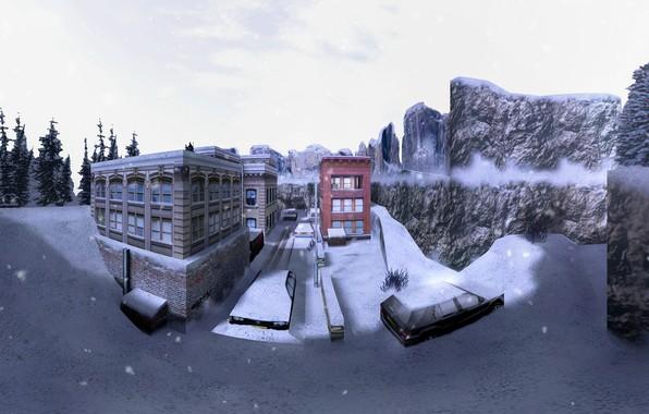 Picture snow, snow, Counter Strike, Full HD, Counter Strike, CS 1.6, de_survivor