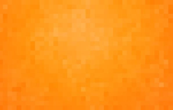 Picture orange, background, Wallpaper, pixels, square