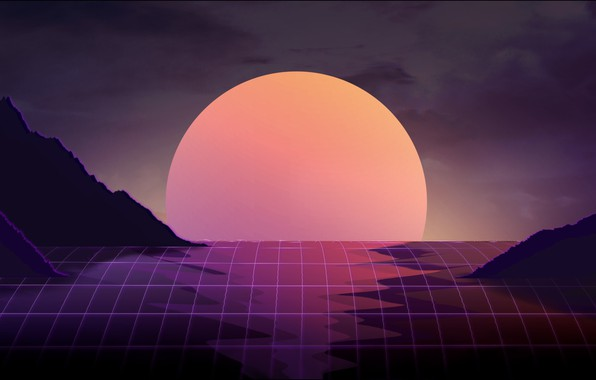 Picture The sun, Music, Star, Background, Art, 80s, 80's, Synth, Retrowave, Synthwave, New Retro Wave, Futuresynth, …