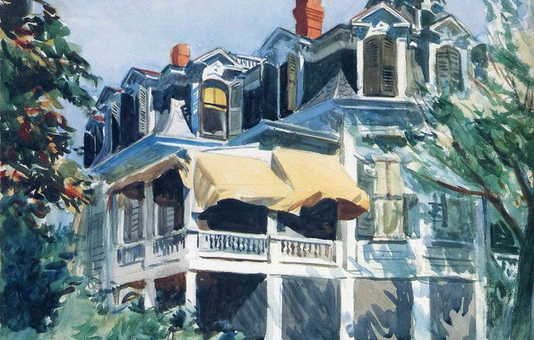 Picture 1923, Edward Hopper, The Mansard Roof