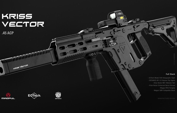 Picture rendering, weapons, gun, weapon, render, muffler, kriss vector, kriss super vector, kriss super v, sub …