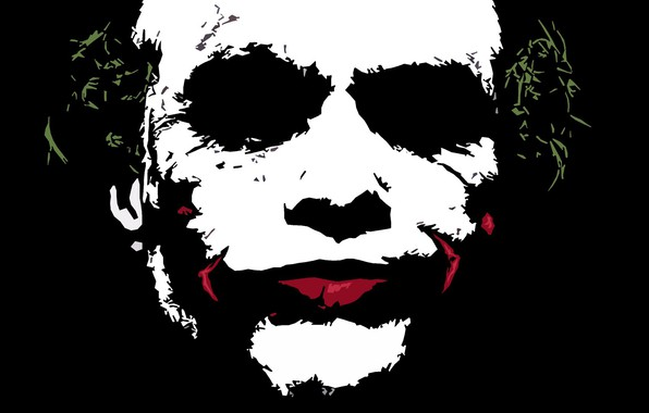 Picture Joker, Dark knight, Minimalism