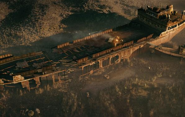 Picture ship, stalker, Pripyat, area, stalkers