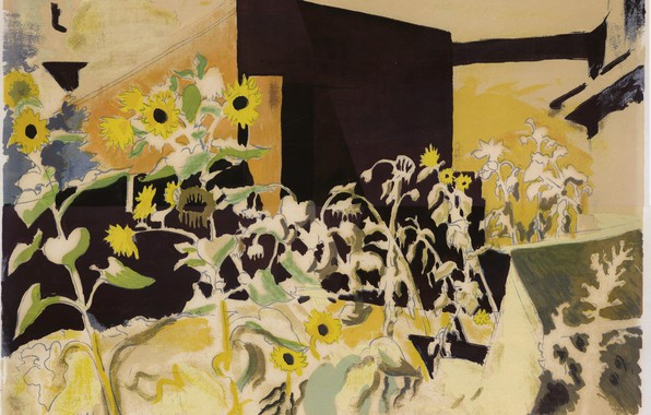 Picture 1942, Charles Ephraim Burchfield, Sunflowers and Red Barn