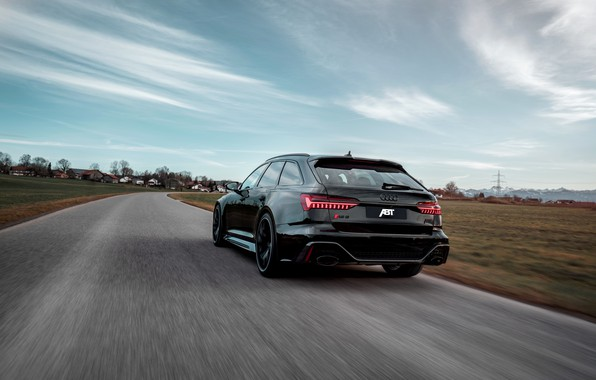 Picture road, Audi, black, ABBOT, universal, RS 6, 2020, 2019, V8 Twin-Turbo, RS6 Avant, 700 HP