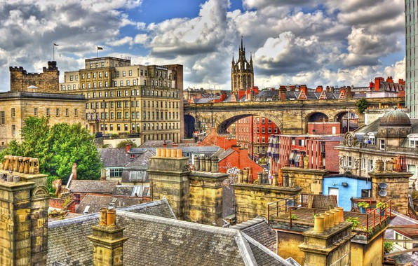Picture the city, England, roof, Newcastle