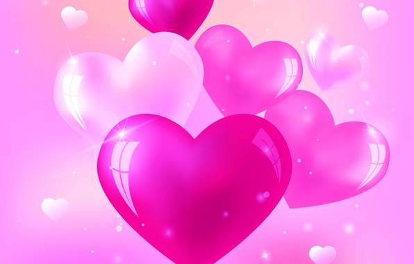 Picture love, pink, heart, hearts, love, heart, background