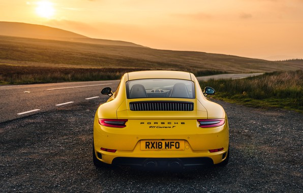 Picture 911, Porsche, rear view, Coupe, 2018, Carrera T