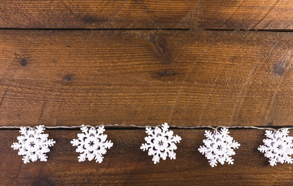 Picture winter, snowflakes, background, tree, Christmas, wood, winter, background, snowflakes