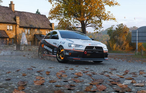 Picture autumn, mitsubishi lancer evolution x, lancer, evo 10, evo x, hankook, Forza Horizon 4