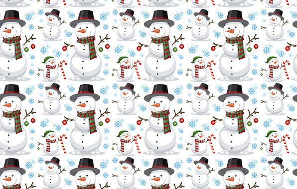 Picture decoration, background, pattern, New Year, Christmas, snowman, Christmas, background, pattern, New Year, snowman, decoration, xmas, …