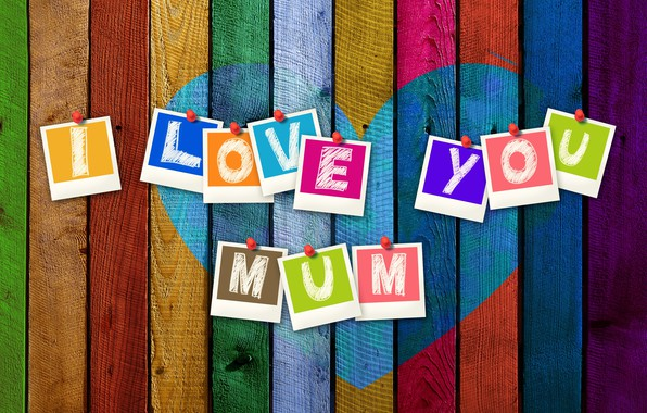 Picture the inscription, Board, heart, mom, Mother's Day