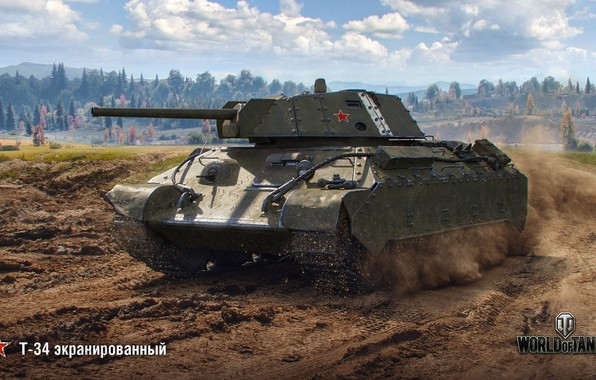 Picture T-34, WoT, World of Tanks, Wargaming