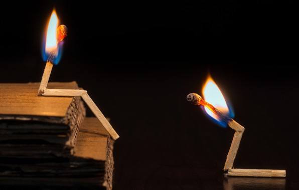 Picture background, fire, matches