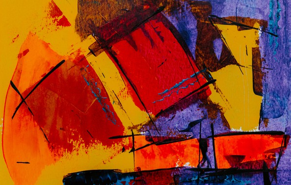 Picture abstraction, paint, color, painting