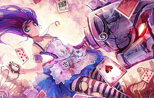 Picture Alice, Alice Madness Returns, torn clothes, potion, evil eye, playing cards, pocket watch, madness returns, …