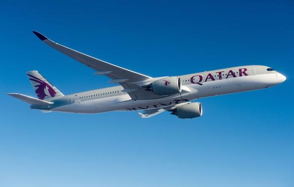Picture Airbus, Qatar Airways, Airbus A350-900, A passenger plane, Airbus A350 XWB