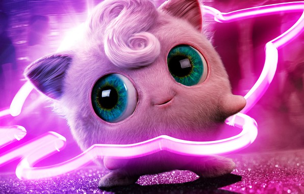 Picture eyes, pink, neon, fabulous, bangs, pokemon, pokemon, Jigglypuff, Jigglypuff, jiglipuf, jiglipuf, jigglypuff