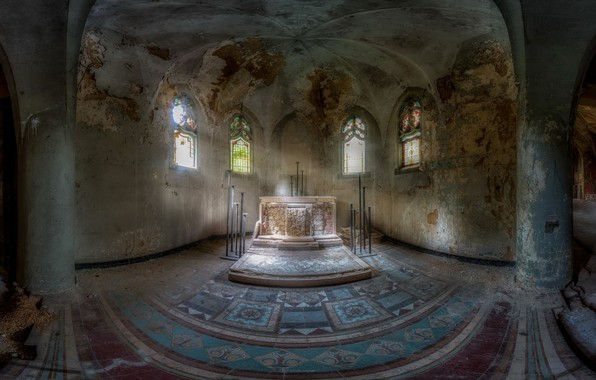 Picture interior, hall, the crypt