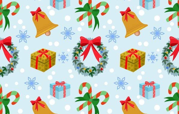 Picture decoration, background, New Year, Christmas, Christmas, winter, background, pattern, New Year, decoration, xmas, Merry, seamless