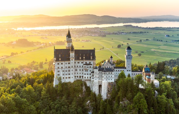 Picture mountains, castle, Germany, Germany, mountain, Neuschwanstein, Bavaria, Neuschwanstein Castle