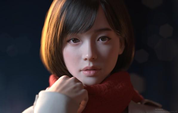 Picture girl, Japanese, Japan, anime, girl, Winter, japan, Yeon