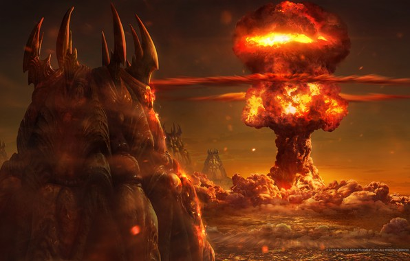 Picture the explosion, fire, starcraft, nuclear, Zerg, strategy, lose, zergs, remastered