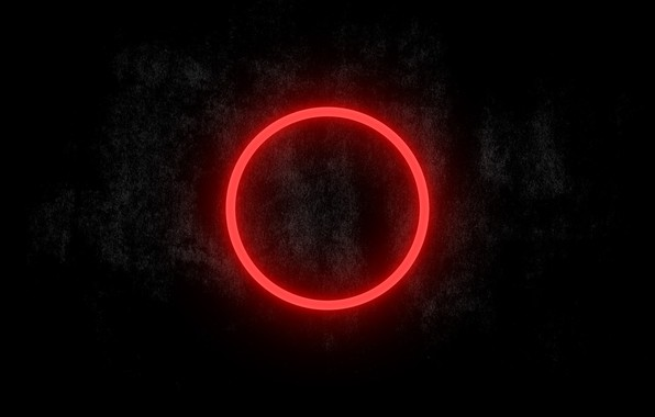 Picture Dark, Wallpapers, Red circle