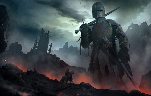Picture giant, knight, Titan, Titan, Vladimir Manyukhin