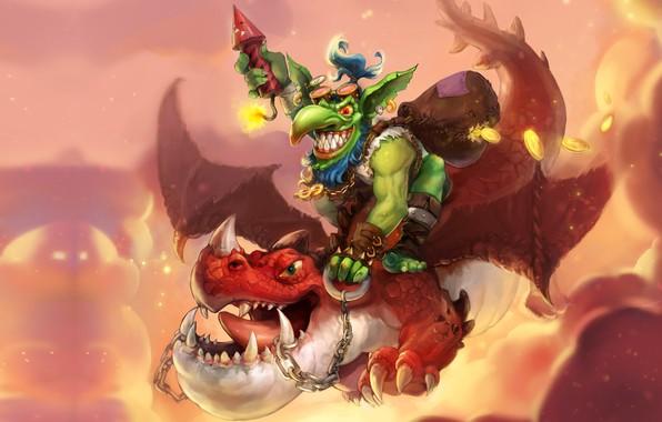 Picture dragon, fantasy, art, flight, Goblin, Goblin, A-YOUN KIM