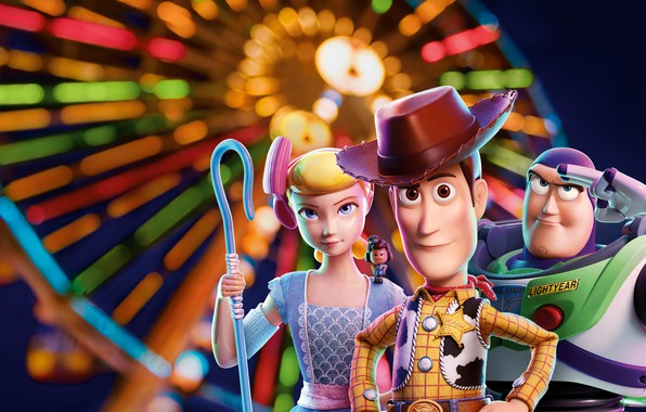 Picture background, cartoon, poster, characters, Toy Story 4, Toy story 4