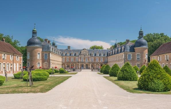 Picture Park, castle, France, Palace, France, Burgundy, Bourgogne, Palace Pierre-de-Bresse, Castle of Pierre-de-Bresse