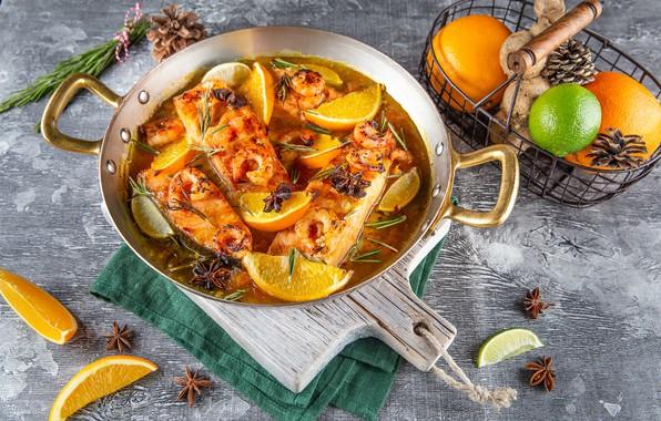 Picture fish, soup, bumps, citrus, the first dish