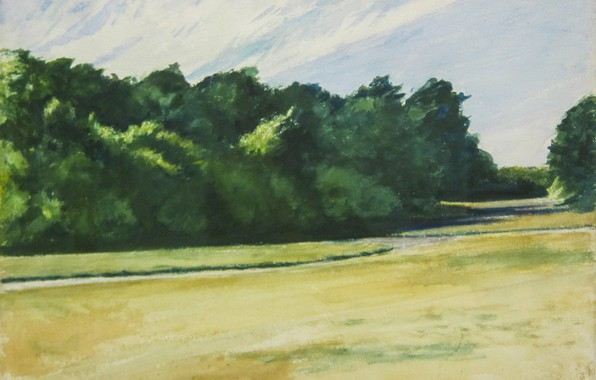 Picture 1962, watercolors, Edward Hopper, Mass of Trees at Eastham