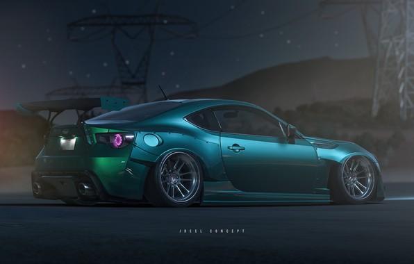 Picture Auto, Night, Subaru, Machine, Art, Rendering, Subaru BRZ, Need for Speed: Payback, Transport & Vehicles, …